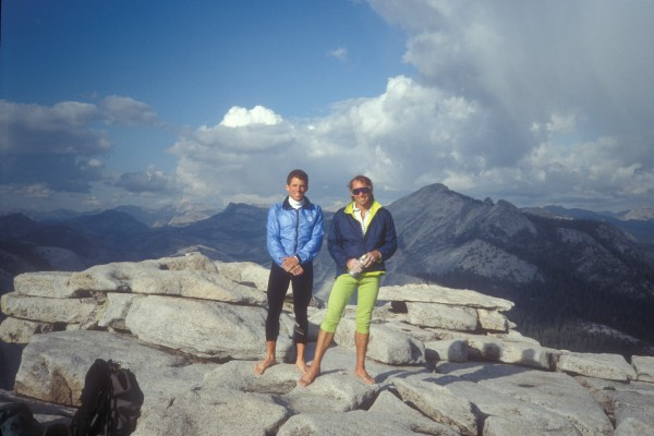 With the late Jack Roberts after climbing Autobahn, 1991.