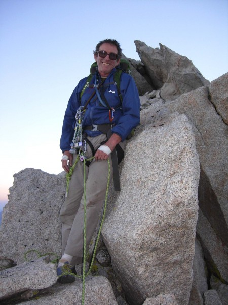 On the summit boulder of the NE Ridge of LPP, August 2013. Penelope Ma...