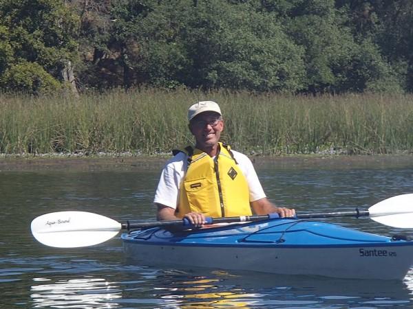 My Dad yesterday, chillin'   (American River)
