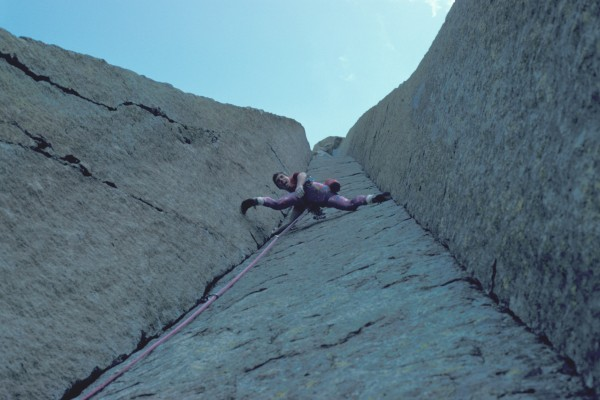 El Matador, 1986.  My first climb at Devil's Tower. Loved it!  Note th...