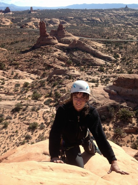 Marie topping out.