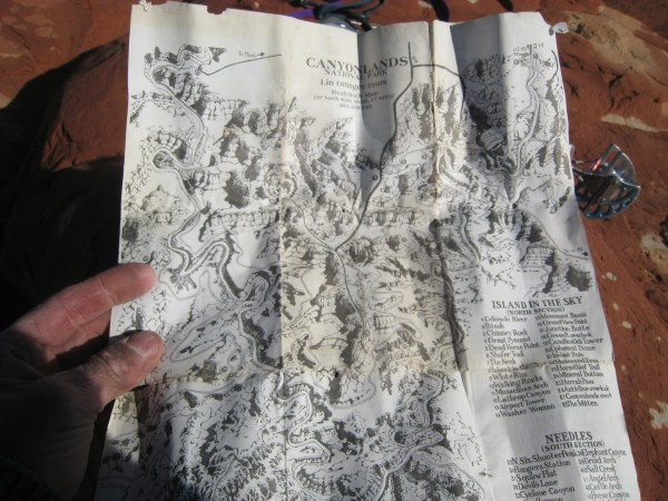 An old map of the Canyonlands from Lin's shop.