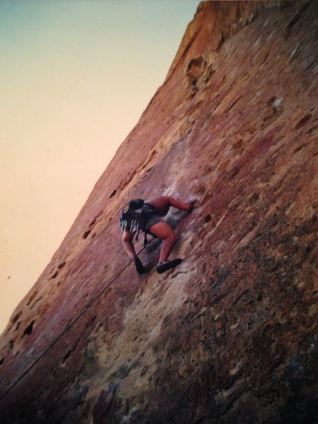 leading Gumby, Smith Rocks, early 1990's