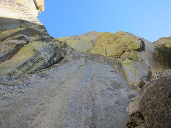 Looking up at Pitch 1 of Romantic Warrior