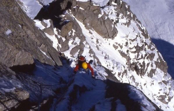 Frendo Spur, Auguille du Midi, Chamonix