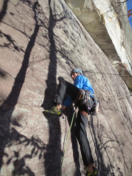 All Whitesides climbs start with unprotected slab and face moves to ab...