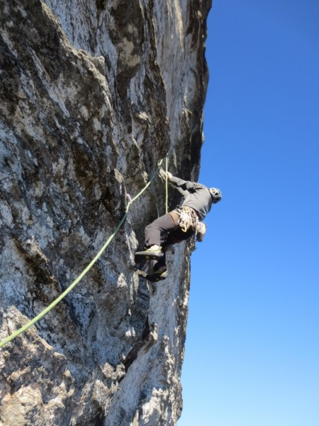 Pitch 7 was more 5.12.  Again, marred by a blank section  It looked po...