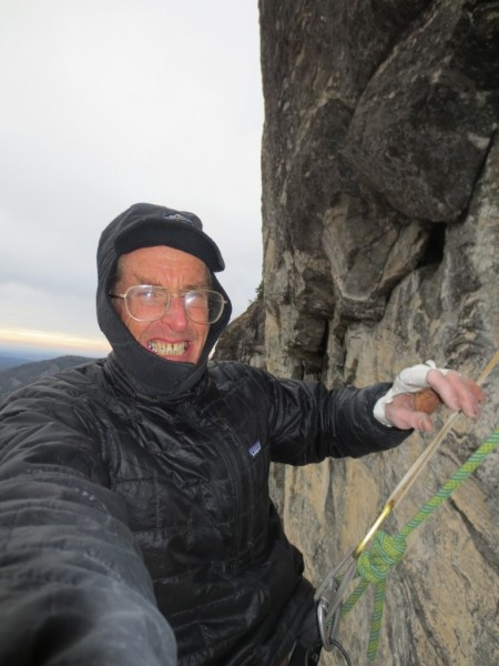 The fourth pitch traverses left 150 ft and the fifth pitch traverses b...