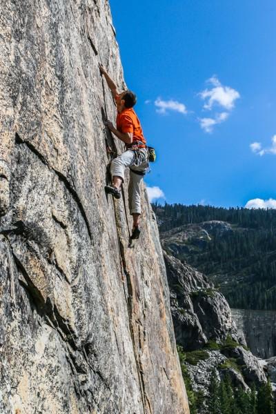 Josh Horniak pulling through the crux on The Last Boy Scout .11b. Boy ...