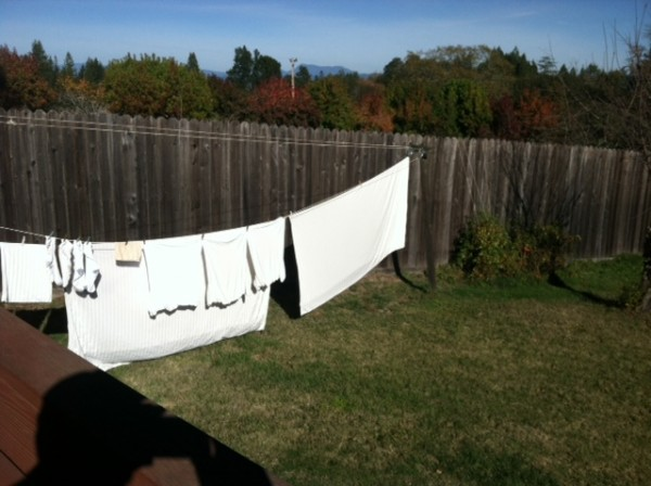 Line drying the wash in December is enjoyable to me but I'm easily amu...