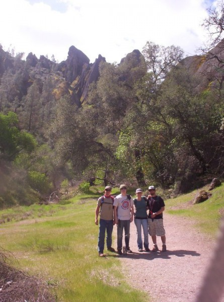 hanging out at pinnacles with ben, Natalie and andrew