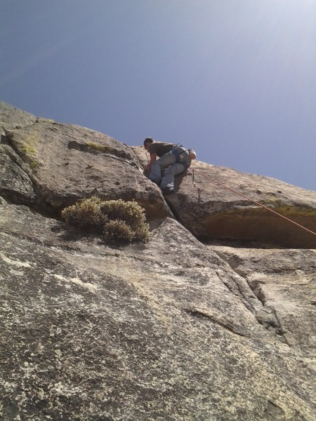 Vince cranking it on practice rock, Wishon
