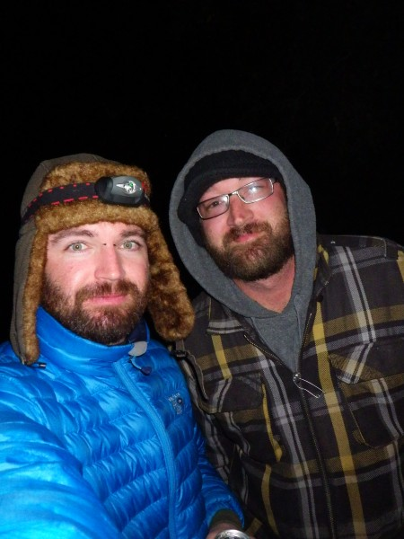Jerod and I on a cold Pinns night