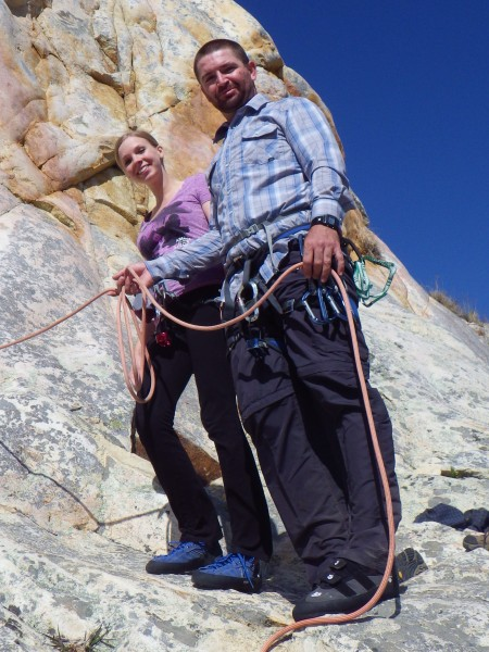 Natalie and I about to climb near Morro Bay Ca