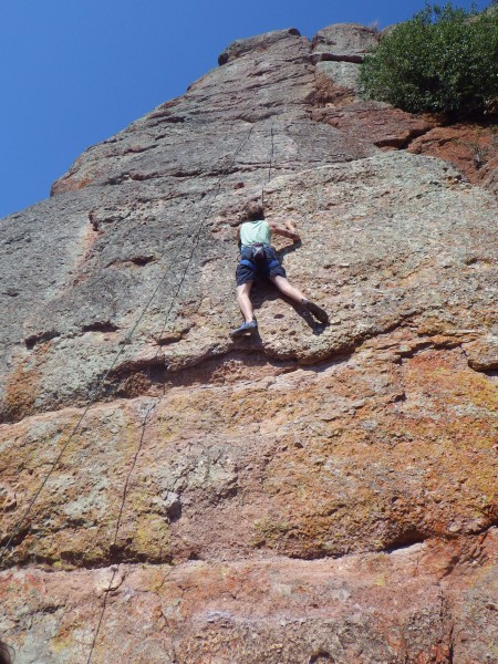 carson climbing at the Pinns