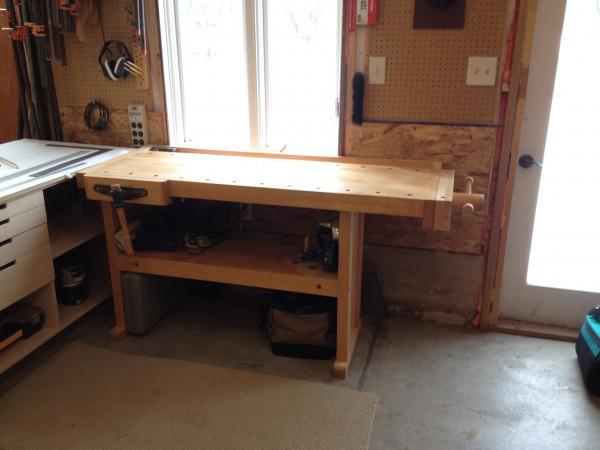 Rock maple workbench.