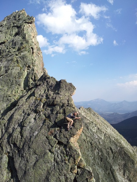 Fast and light on Blitzen Ridge in Rocky Mtn NP. <br/>