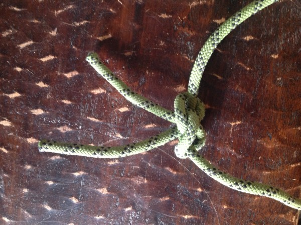 the butterfly knot used to tie 2 ends togeather