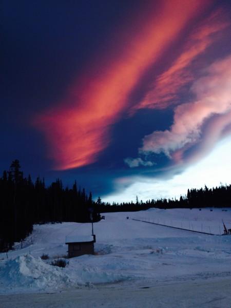 Sunset at Eldora Nordic Center