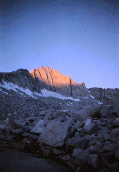 Sunrise on Mt. Brewer's N.E. face.