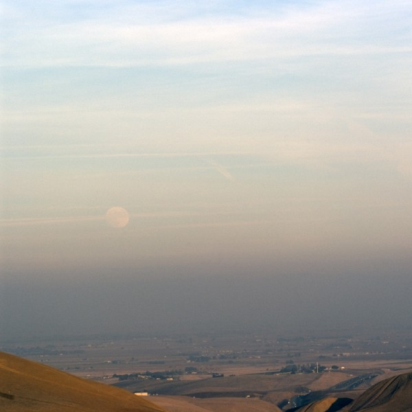 Moon rise from the Altamont Pass, CA, December 15, 2013