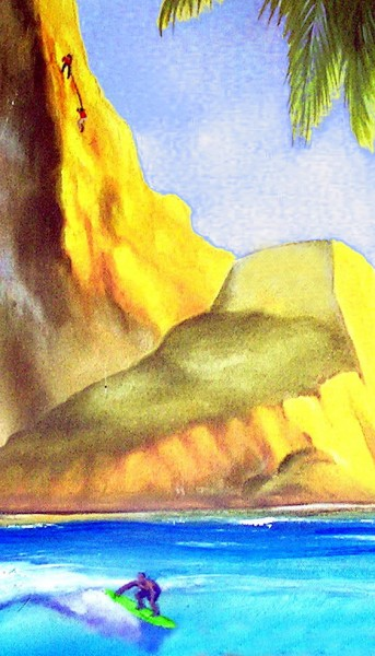 Painting by Karen Lang <br/>