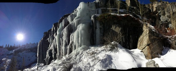 Sunny Falls using 'Pano' feature