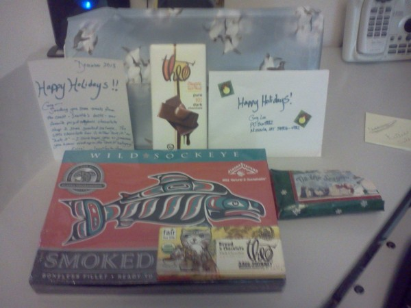 THANK YOU Secret Santa from Seattle, whoever U R!! <br/> Penguin wrapping ...