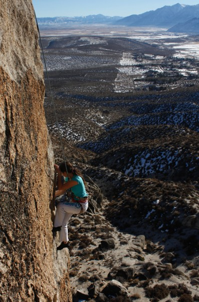 Skylyn on the arete
