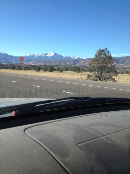 Passing through Colorado Springs.