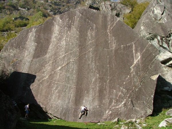 This steep slab had half a dozen sport routes on it, and an excellent ...