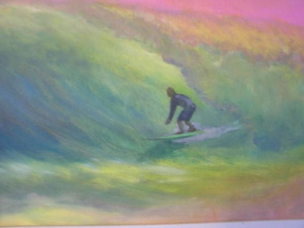 &quot;Olaf's Dream Wave&quot; <br/> Original oil by Karen Lang