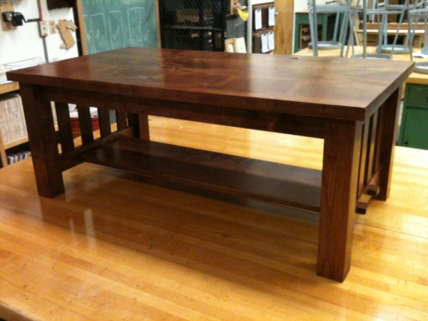 Craftsman style in alder with chestnut blend stain and lacquer top coa...