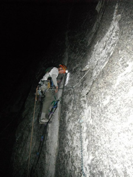 Dave starting the last pitch.