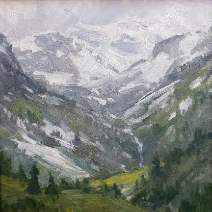 Mountains 10x10 oil