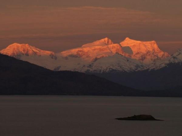 Morning alpenglow.