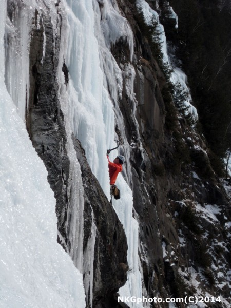 Climbers to the right of us on 20 below Zero Gully 4+ we did this a we...