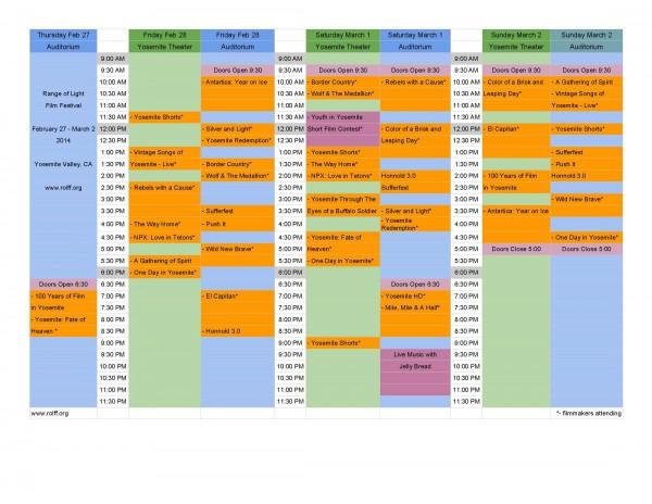 rolff schedule