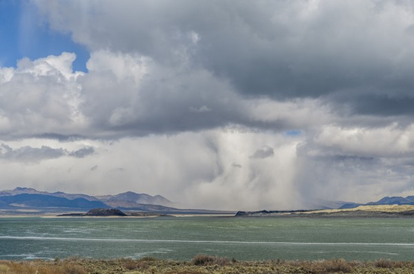 Cloudburst Mono Lake