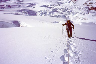 Late May run to the summit with Chad. 1997 on the Emmons/Winthrop Glac...
