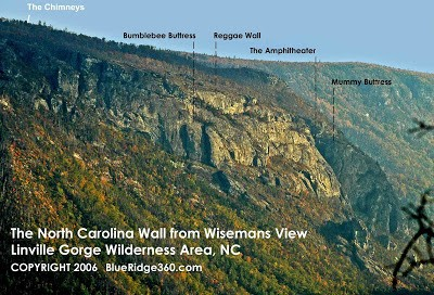 North Carolina Wall, Linville Gorge, NC.
