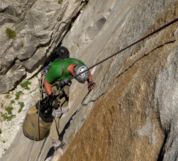 Fighting the Swing - descent, El Cap