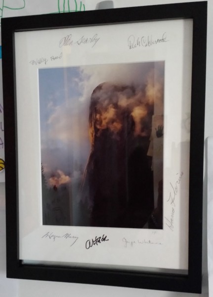 Autographed, matted photo sent along by GLee after I missed Facelift 2...