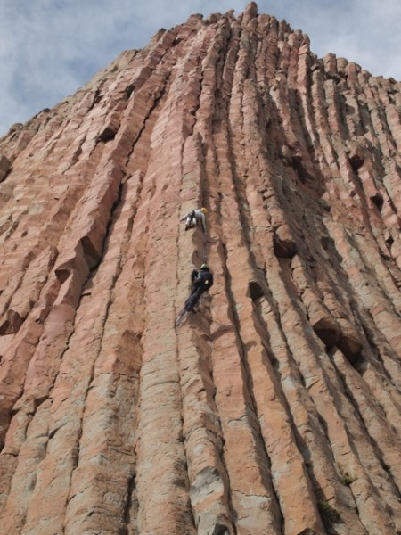 Dave and John on a new 5.11 route.