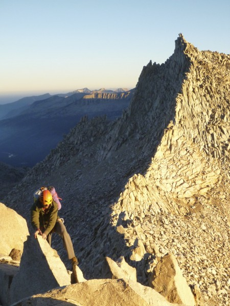 Moving on Mt. Huxley