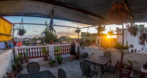 Casa's terrace in Cienfuegos