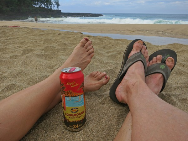 Don't need a whole lotta shoes on Kauai :-)