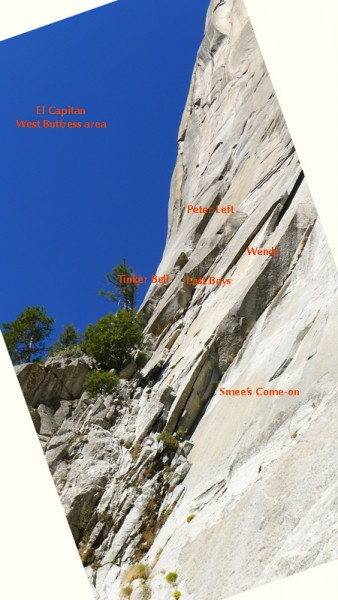 base of West Buttress of El Capitan