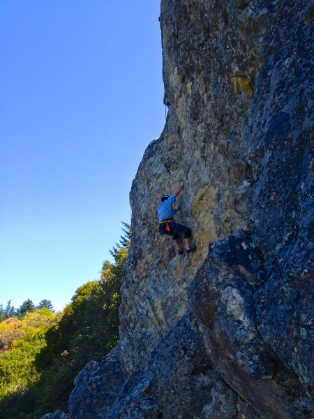 TRing the very nice 'West Face Route' , Mt. Doom