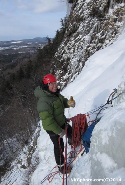 My boss getting an ice fix